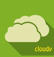 cloud icon in flat style isolated on color vector image vector image