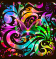 colorful glowing paisley seamless pattern bright vector image vector image