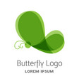 colorful green butterfly logo template vector image vector image