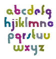 colourful hand-painted letters isolated on white vector image vector image