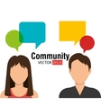 Community and people graphic vector image