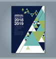 cover annual report 779 vector image