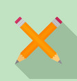 crossed pen icon flat style vector image vector image
