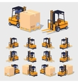 Cube World Forklift vector image vector image