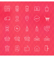E-commerce and Finance Line Icons Set over vector image vector image