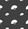 Fan icon sign Seamless pattern on a gray vector image vector image