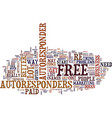 free autoresponders pro and cons text background vector image vector image