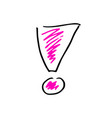 free hand drawing of an exclamation mark vector image vector image
