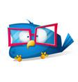 funny bird in sunglasses cartoon vector image