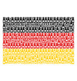 germany flag collage of beer bottle items vector image vector image