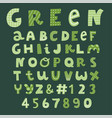 green decorative font collection vector image