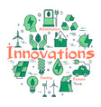 green eco innovations concept vector image vector image