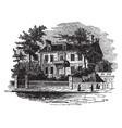 hancocks house boston vintage vector image vector image