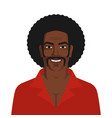 handsome black man with retro afro hairstyle vector image vector image