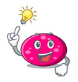 have an idea ellipse mascot cartoon style vector image