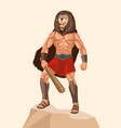 heracles a divine hero in greek mythology vector image vector image
