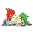 Ill dragon character vector image