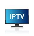 iptv icon ip tv video channel box concept vector image
