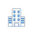 isolated building icon fill design vector image vector image