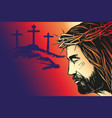 jesus christ the son of god calligraphic text vector image vector image