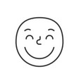 kind smile fase black and white emoji eps 10 vector image vector image