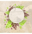 Leaves frame background vector image vector image