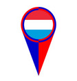 luxembourg map pointer location flag vector image vector image
