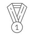 medal thin line icon badge and award prize sign vector image vector image