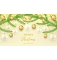Merry Christmas and Happy New Year gift card vector image vector image