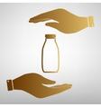 Milk bottle sign vector image vector image