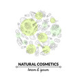 natural cosmetics banner template eco organic vector image vector image