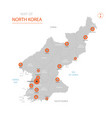 north korea map with administrative divisions vector image