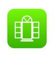 open narrow window frame icon green vector image vector image
