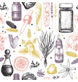 organic and floral perfume ingredients background vector image