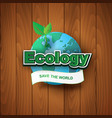 paper art and craft of ecology save the world vector image vector image