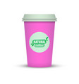 paper coffee cup icon vector image vector image