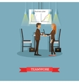 poster of business presentations and vector image