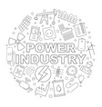 power industry pattern vector image vector image