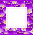 purple crocus flower banner card vector image vector image