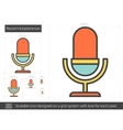Record microphone line icon vector image vector image