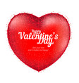 red heart to happy valentines day consisting of vector image vector image