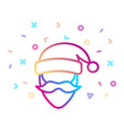 santa claus icon christmas and new year symbol vector image