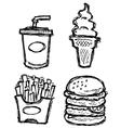 scribble series - junkfood vector image vector image