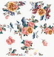 seamless pattern for wallpaper design with flowers vector image vector image