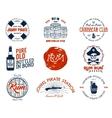 Set of vintage handcrafted emblems labels logos vector image vector image