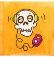 Skeleton with Headphones Cartoon vector image