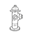 sketch fire hydrant vector image