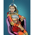 Space girl beauty sexy science fiction vector image