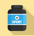 sport nutrition plastic jar icon flat style vector image vector image