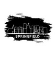 springfield illinois city skyline silhouette hand vector image vector image